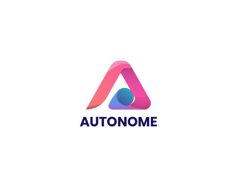 AUTONOME a logo letter logotype graphic design graphicdesign vector flat logo illustration design