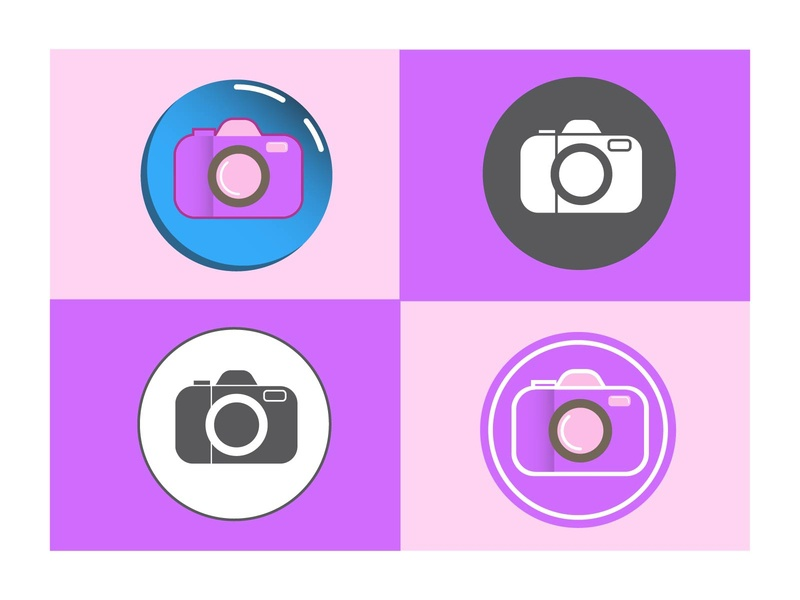 Camera Icon Set icon set icon design icon branding flat design logo graphicdesign vector