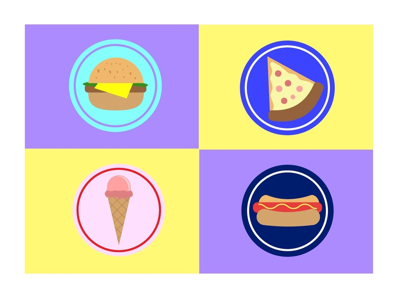 Flat Design Fast Food Icon icon design iconography icon set icon flat illustration design