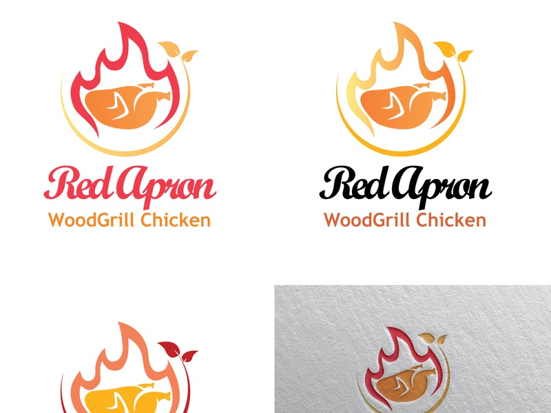 Chicken Logo Design Template tasty smoking restaurant outdoor chicken inihaw inasal grill food fire cooking burning burn bbq barbeque barbecue