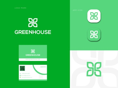 GREENHOUSE Logo Design Template internet green forum forest fashion creative corporation cool concept company community club clothing clean business branding apparel agents agent agency