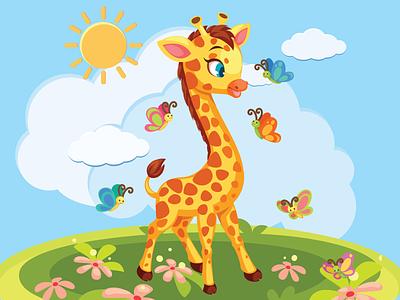 Cute Animal Children Book Illustration Design notebook
