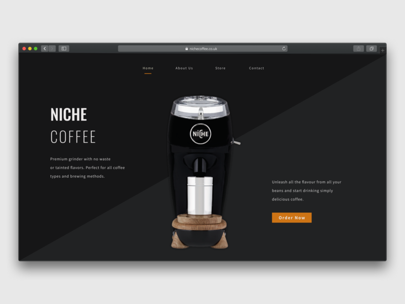 Landing Page Concept figma coffee product launch ladingpage landing design dailyui daily 100 challenge daily ui