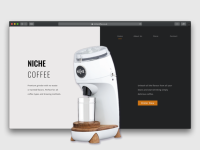 Landing Page Concept product launch dailyui landingpage daily 100 challenge daily challange figma daily ui coffee