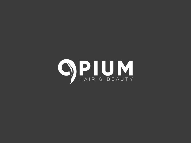 Opium- Logo Concept shop grey beauty product beauty salon haircut hair salon beauty hair design branding logo