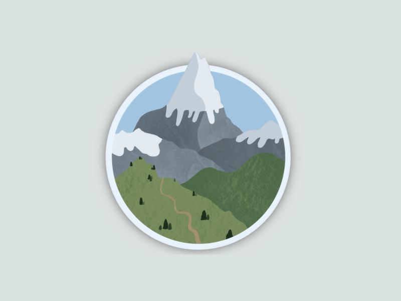 Mountain landscape- procreate concept ipad digitalart artwork landscape procreate art procreateapp procreate mountains illustration design