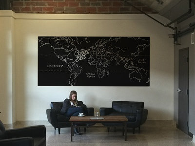 Coffee Belt Illustration illustration coffee hand lettering map foundry tyler texas kcmo type typography