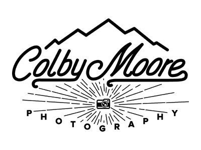 Colby Moore Logo colby moore photography logo hand lettering adventure type typography camera vintage branding