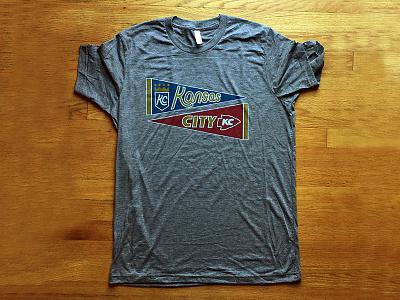 Kansas City T-Shirt kansas city kc kcmo mo royals chiefs penant shirt design vintage sports