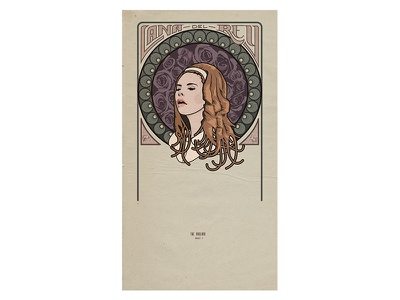 Lana Del Rey Poster lana del rey lana music poster vintage del rey blue jeans art nouveau lettering