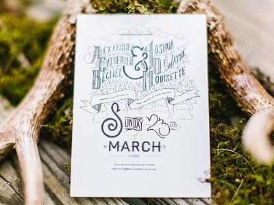 Modisette Wedding Invites hand lettered modisette wedding invites vintage hand lettering drawn darling tyler texas kcmo