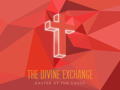 The Divine Exchange cause kc kcmo cross geometry triangles christian divine red easter kansas city missouri