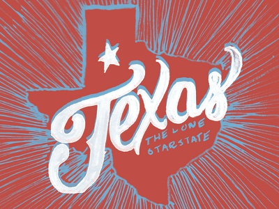 Texas texas lone star tx hand lettering handdrawn lettering typography type cursive star