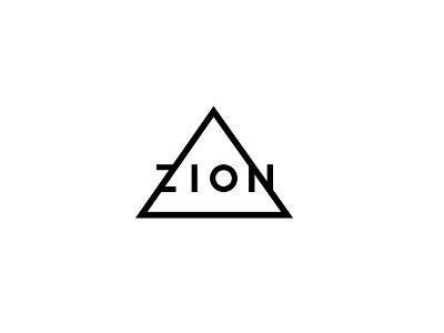Zion zion logo branding edm electronic dance music triangle monoweight
