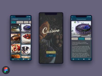 Food App Recipe web argentina recipe figma food design app ux ui