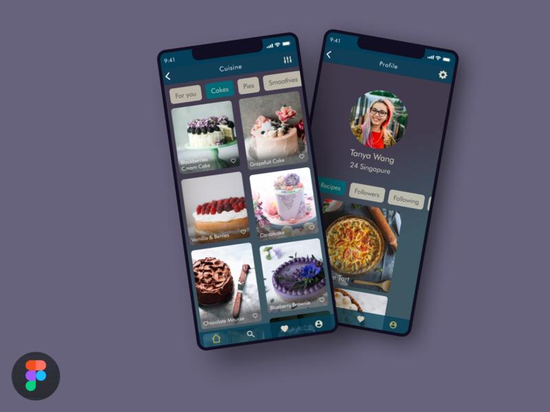 Food App Recipe scroll search ios profile illustration web ui ux recipe food figma design argentina app