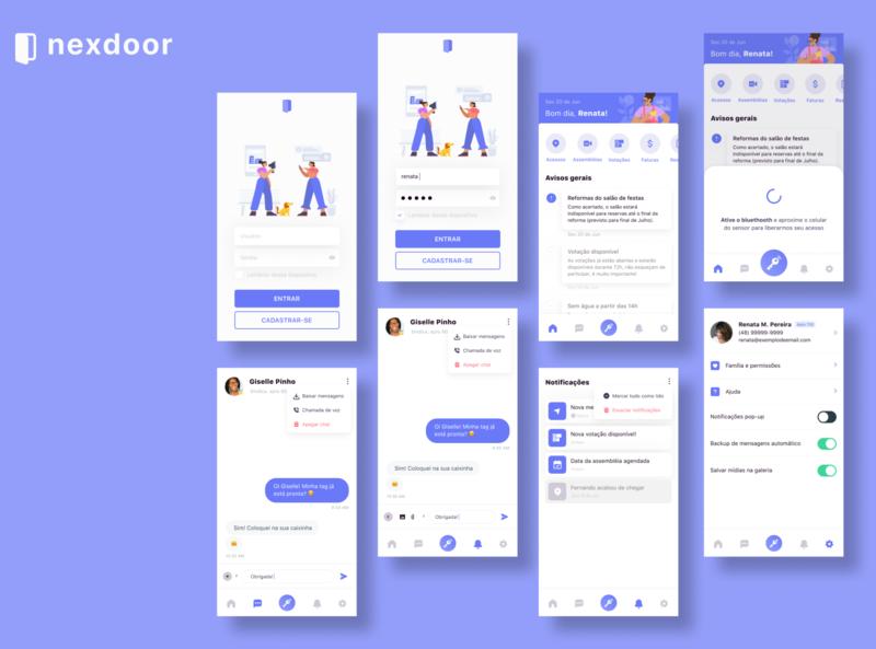 Nexdoor - condo communication & management interaction design ux design ui design ui condominium condo flat app ux design
