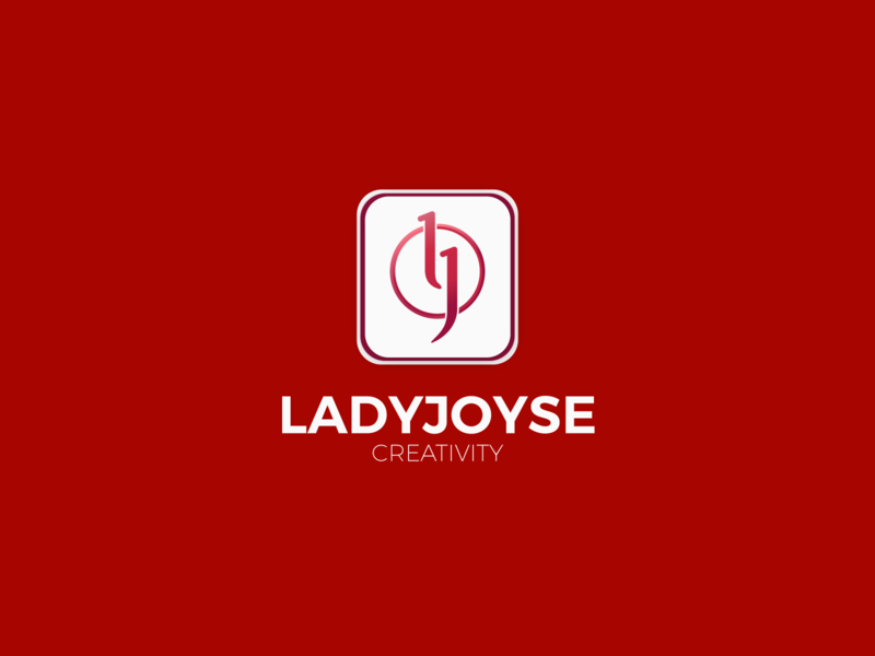 ladyjoyse creativity brand logo identity minimal design branding logo illustration