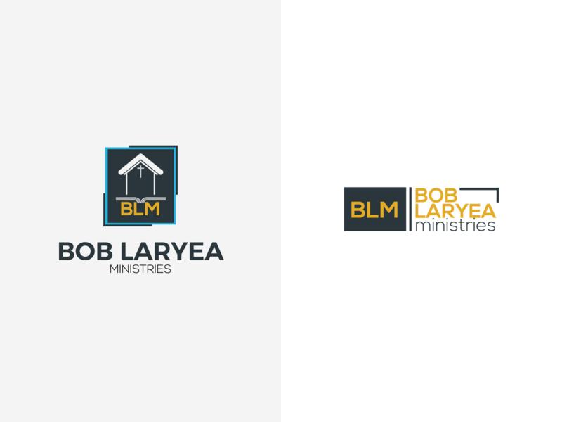 bob laryea ministries logo illustration minimal logo design identity branding