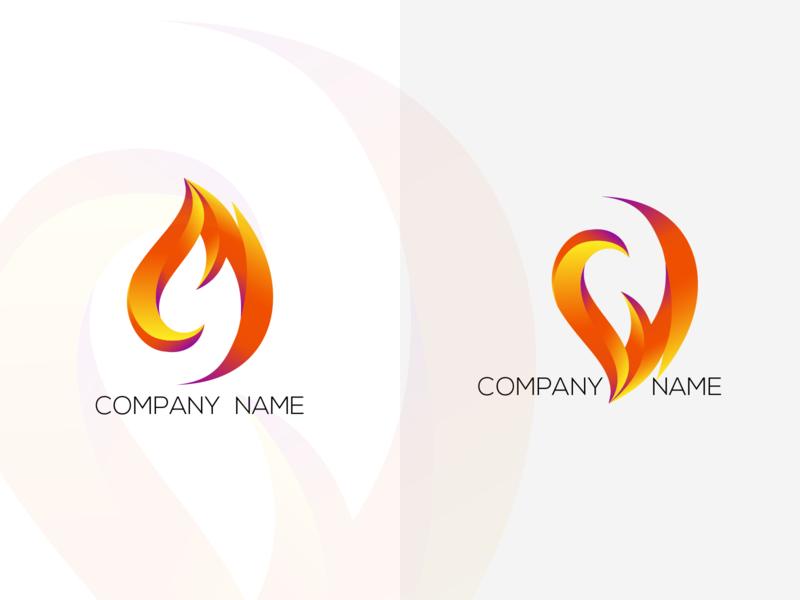 fire logo concept identity vector illustration logo branding design