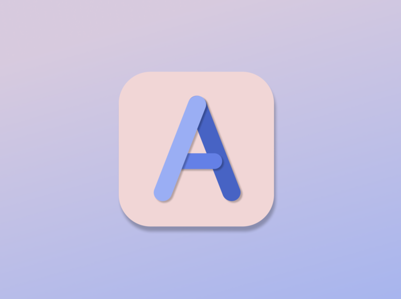 UI Challenge 5: App Icon letter a app icon figma dailyui dailyuichallenge