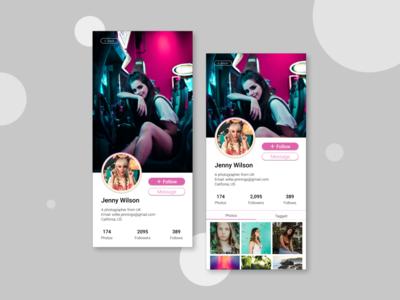 UI Challenge 6: Profile Page profile page figma dailyuichallenge dailyui