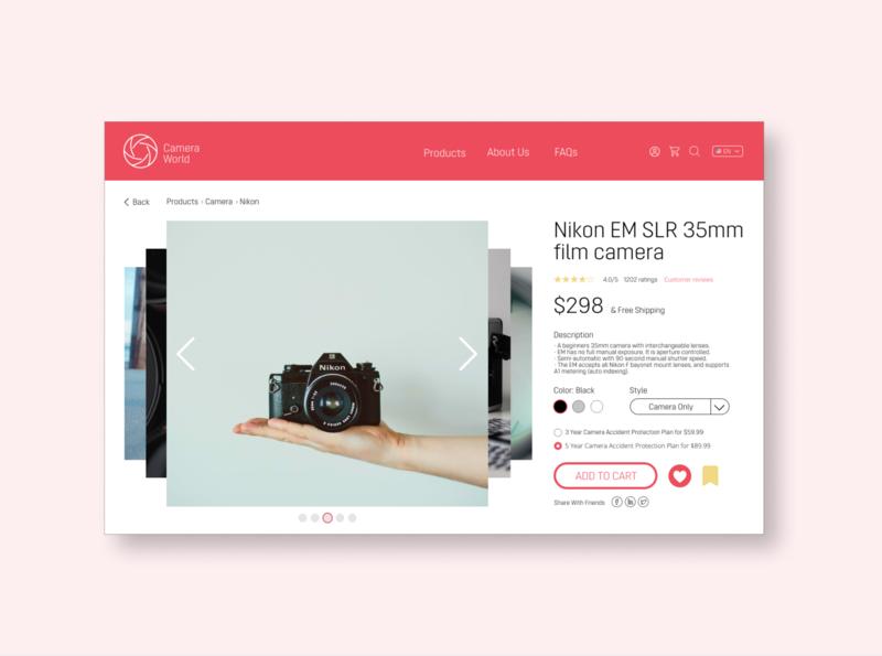UI Challenge 12: E-Commerce Shop (Single Item) single item e-commerce shop figma dailyuichallenge dailyui