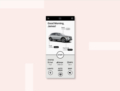 UI Challenge 34: Car Interface car interface figma dailyuichallenge dailyui