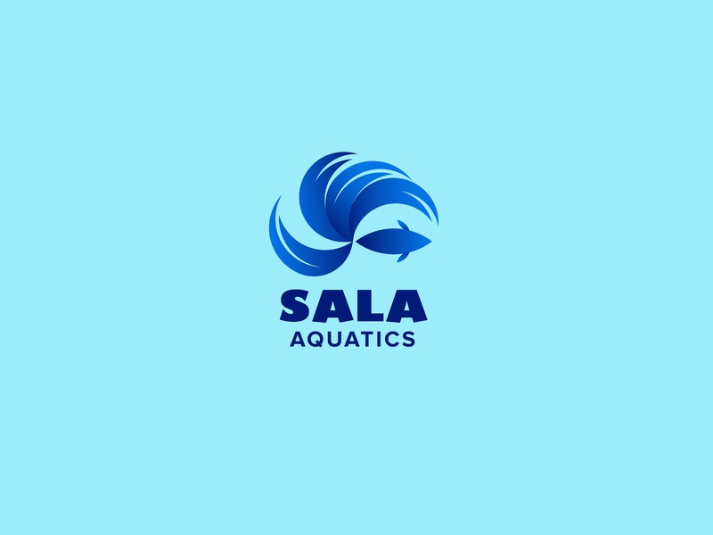 SALA Aquatics Logo Design betta fish fighter aquatic aqua fish logo fish blue logo blue logo design logos logodesign logo illustrator creative logo company logo adobe brand design adobe illustrator brand design