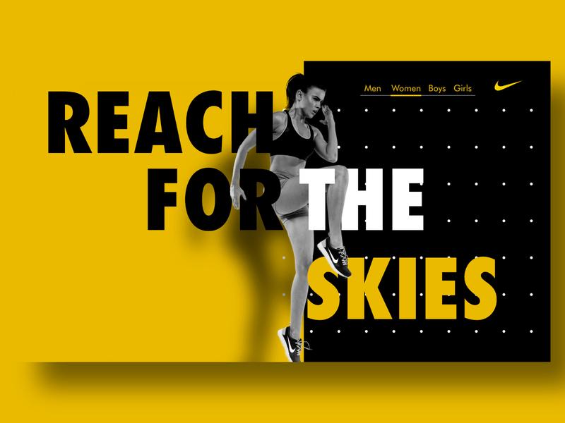 Nike web concept webdesign nike adobexd ui  ux