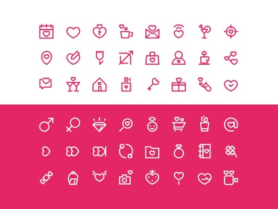 Valentine's Day icon set icon icons set freebie illustration vector glyphs love ios iphone web