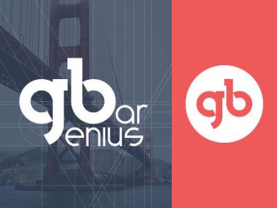 Genius Bar logo logo identity mark branding geometry illustration design ios simple clean web vector
