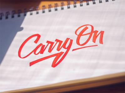 Carry On  branding brushpen handlettering script calligraphy typography lettering text logo