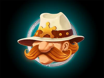 Sheriff  Foxx Character wacom brush adobe west art photoshop sheriff cartoon character illustration