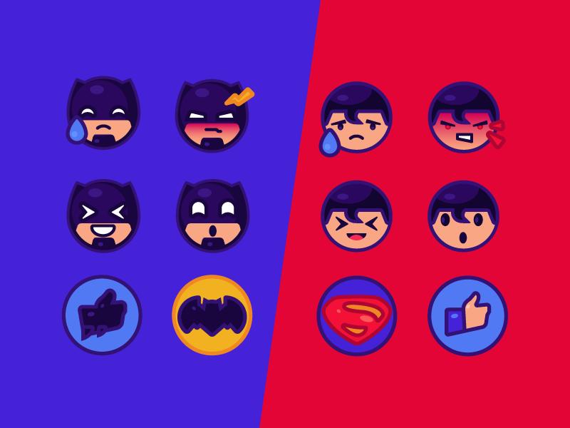 Batman Vs Superman Free Emoji By Arthur Avakyan Dribbble