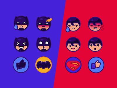 Batman Vs Superman Free Emoji superman batman adobe emoji art superhero cartoon character illustration
