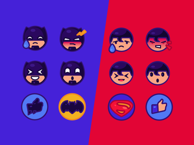 Batman Vs Superman Free Emoji By Arthur Avakyan Dribbble