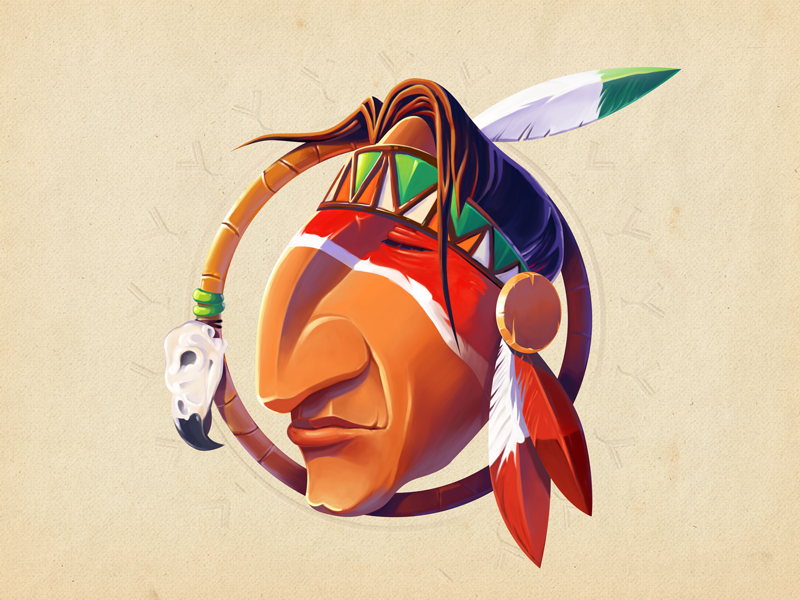Indian Dreamcatcher  wacom cartoon character skull art colors indian illustration illustrator photoshop adobe