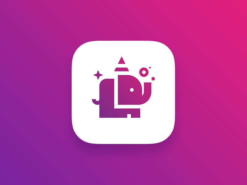 Elephun Icon elephant fun adobe illustrator photoshop logo ios illustration icon branding app