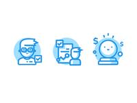 CalloSum Graphics simple flat glyphs character art illustration illustrator icons adobe