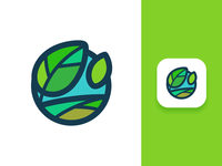 Andre Landscape Logo icon landscape care nature branding colors logo identity illustrator ios adobe