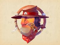 Wild west bandit attachement
