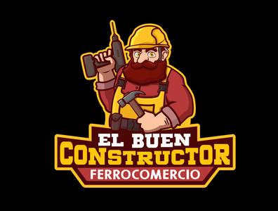 El Buen Constructor design branding ilustrator logo vector characterdesign illustration ecuador ilustration design adobe illustrator