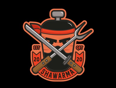 SHAWARMA NINJA branding animation vector design characterdesign ilustrator illustration ecuador ilustration design adobe illustrator