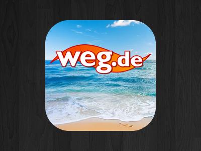 weg.de Mobile App Icon mobile icon beach ocean