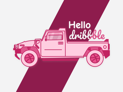 Hello Dribbble! figma hello dribbble automobile illustraion firstshot