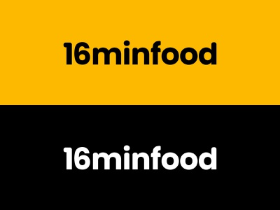 16MinFood Logo Concept   Logo for a Food Brand brand identity design food brand food logo logo design branding brand identity logodesign logotype logo design