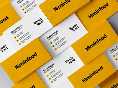 16MinFood Logo Concept Application branding design branding logo concept logo design brand identity design brand identity
