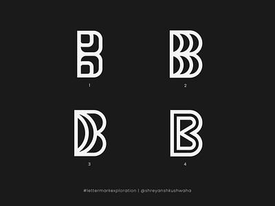 B Monogram   Letter Mark Exploration 2/26 - B monogram letter mark lettermarkexploration richwithdesigns logo design concept monogram logo monogram logomark logo mark logo logo design