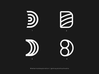 D Monogram   Letter Mark Exploration - 4/26 logodesign logotype richwithdesigns logo vector monogram logo brand identity design logo mark logomark logo design